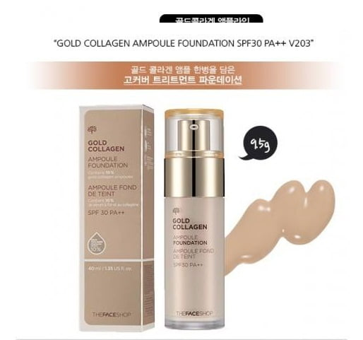 Gold collagen ampoule foundation..
