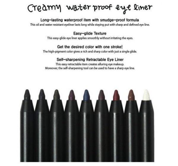 Creamy Waterproof Eyeliner4