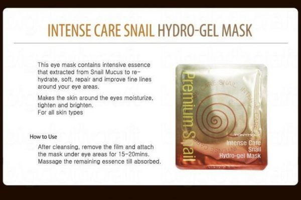 Intense Care Gold 24K Snail Hydro Gel Mask 1