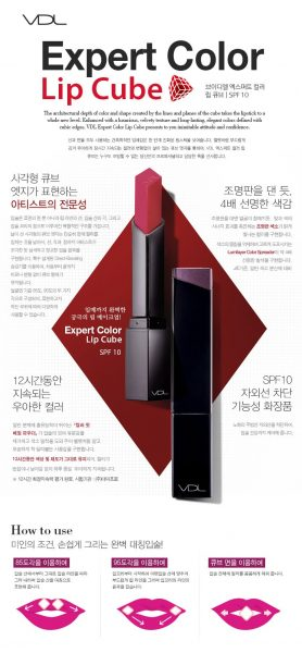 VDL Expert Color Lip Cube SPF10 (Matte)1