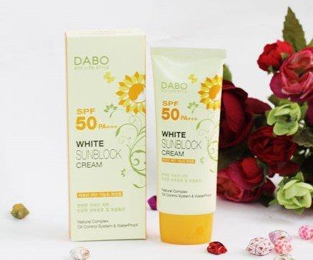 Kết quả hình ảnh cho Kem Chống Nắng DABO White Sunblock Cream SPF50