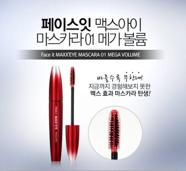 Mascara Face it Maxx' Eye Mega Volume2