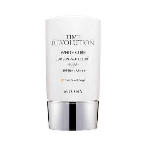 White cure UV sun protector