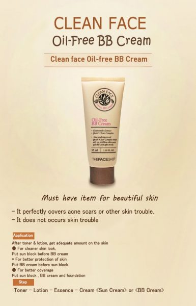 Clean Face It Oil Free BB Cream 2
