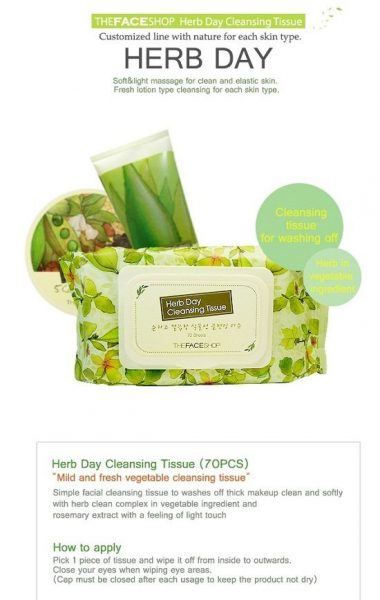 HERB DAY CLEANSING TISSUE1