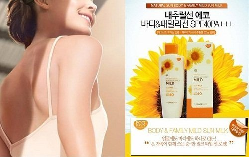 Natural Sun body & family mild the face shop4