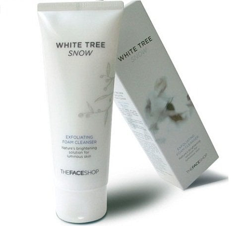 White Tree Snow Exfoliating Foam Cleanser The Face Shop1