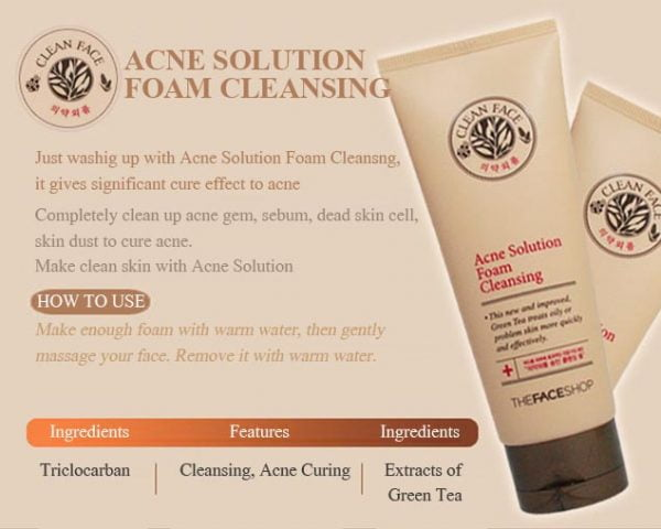 Acne Solution Foam Cleansing 5