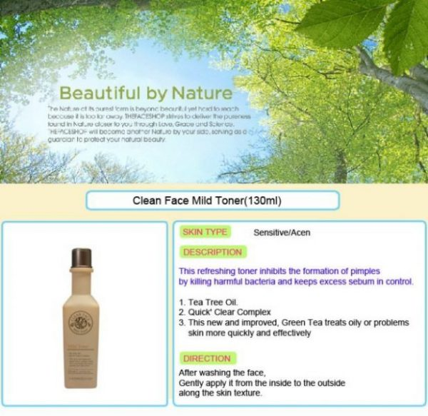 Clean Face Mild Toner 4