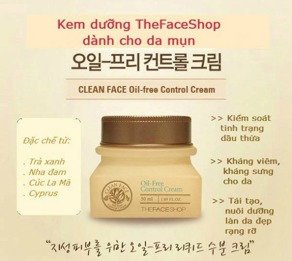 Clean Face Oil Free Control Cream 3