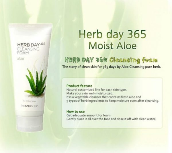 Herb Day 365 Cleansing Foam - Aloe 5