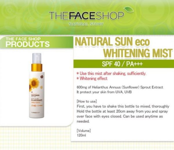 Natural Sun Eco Whitening Mist Sun 5