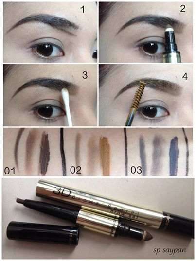 3D Brows Secret Mistine 4