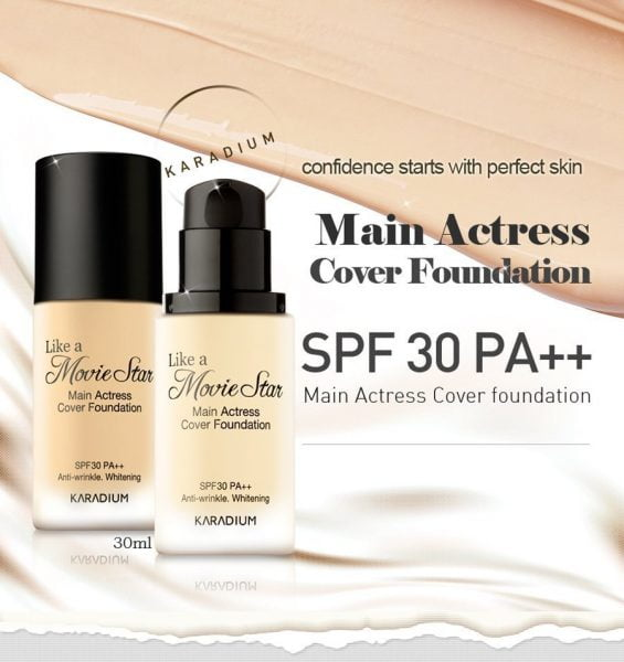 Kem nền Karadium# Lọ# Main Actress Cover Foundation