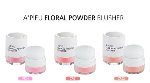 A'Pieu Floral Powder Blusher 4