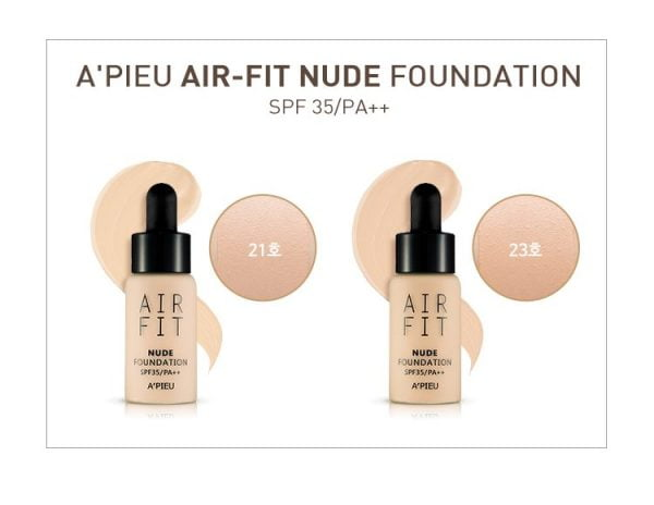 Kem nền nước Air Fit A'pieu Foundation6