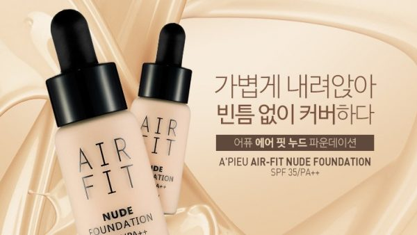 Kem nền nước Air Fit A'pieu Foundation7