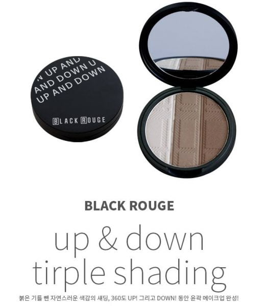 Phấn tạo khối Black Rouge Up and Down Triple Sharing1