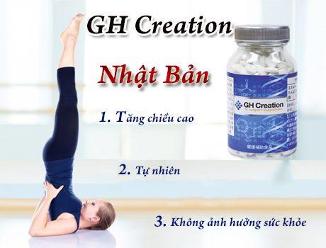 GH Creation Thuốc tăng chiều cao Nhật Bản an toàn không gây tác dụng phụ | GH Creation Thuốc tăng chiều cao Nhật Bản an toàn không gây tác dụng phụ