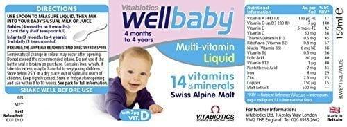 Wellbaby Multi - Vitamin Liquid 150ml của Anh