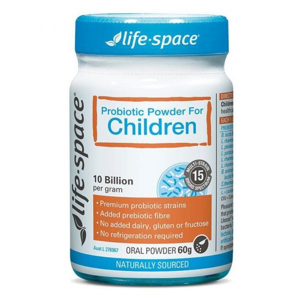 Men vi sinh Life Space Probiotic Powder children Úc