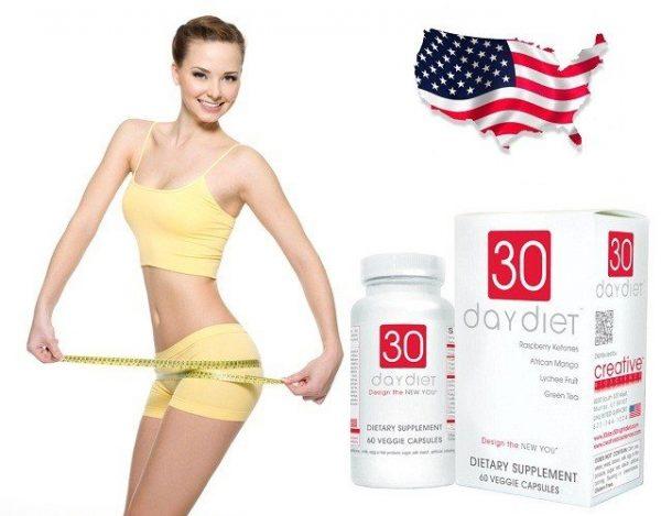 30 day diet - Siêu phẩm giảm cân, chống hấp thu chất béo, ngăn chặn sự thèm ăn hiệu quả