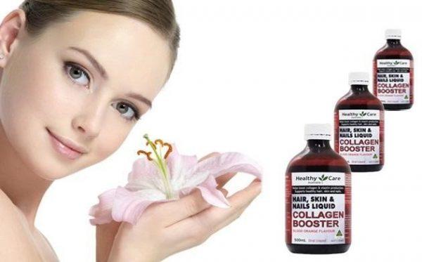 Phụ nữ tiền mãn kinh mãn kinh thiếu hụt collagen nên sử dụng Healthy Care Hair Skin Nails Liquid