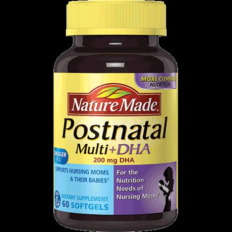 Nature Made Postnatal Multi DHA – Giúp Mẹ phục hồi  cơ thể nhanh chóng sau vượt cạn