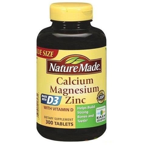 Nature Made Calcium Magnesium Zinc With Vitamin D3