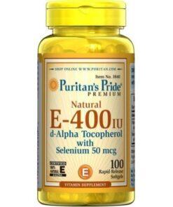 Sản phẩm Vitamin E 400 IU Puritans Pride của Mỹ 1 | Sản phẩm Vitamin E 400 IU Puritans Pride của Mỹ 1