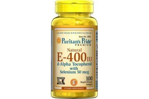 Vitamin E 400 IU Puritan Pride - Viên Uống Giúp Đẹp Da