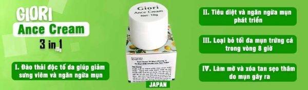 kem trị mụn Giori Nhật Bản | kem trị mụn Giori Nhật Bản