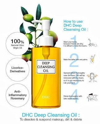 hướng dẫn sử dụng DHC Deep Cleansing Oil | hướng dẫn sử dụng DHC Deep Cleansing Oil