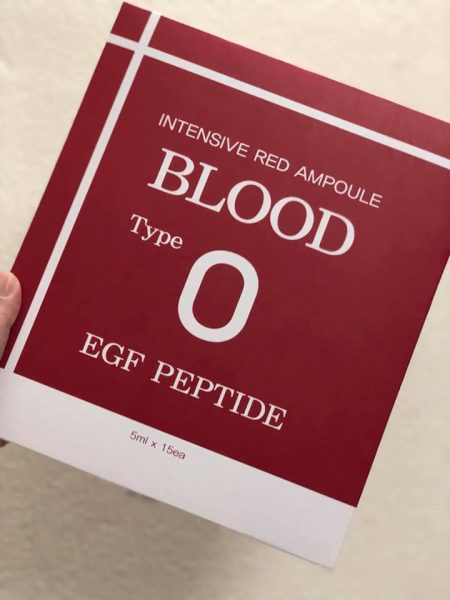 Huyết Thanh Tiểu Cầu Intensive Red Ampoule Blood Type O 56