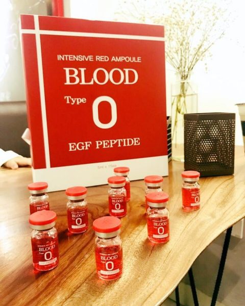 Huyết thanh tiểu cầu intensive red ampoule blood type O 1