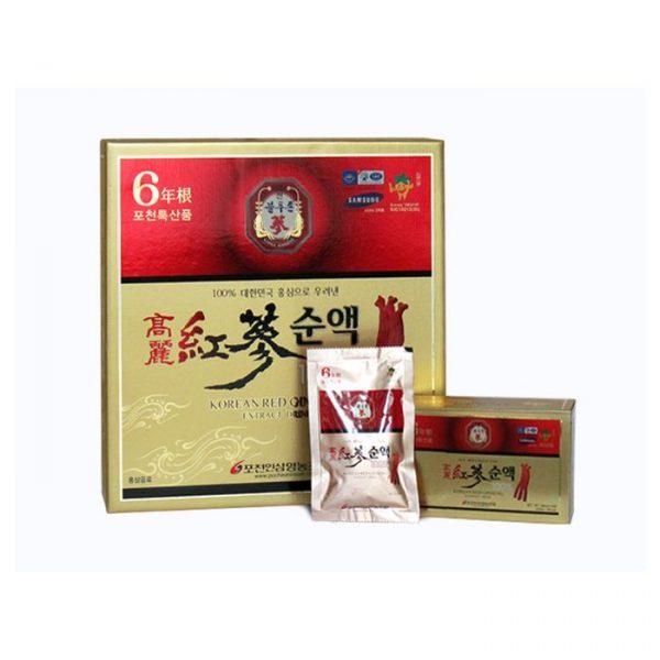Tinh Chất Nước Hồng Sâm Cao Ly Pocheon 100 Hàn Quốc 80ml x 30 Gói
