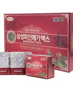 Tinh Dầu Thông Đỏ Samsung Pine Mega Max Hàn Quốc 120 viên | Tinh Dầu Thông Đỏ Samsung Pine Mega Max Hàn Quốc 120 viên