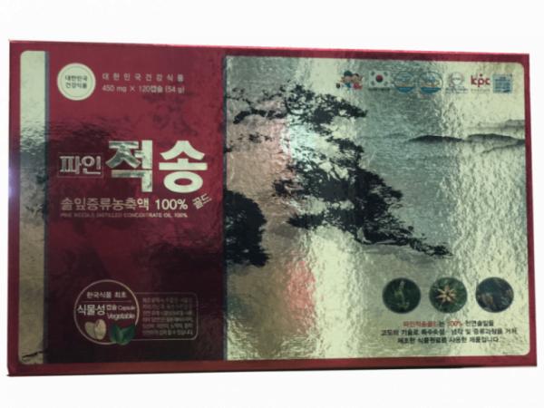 Viên tinh dầu thông đỏ Hàn Quốc Pine Jeok Song Gold 120 viên 4 | Viên tinh dầu thông đỏ Hàn Quốc Pine Jeok Song Gold 120 viên 4