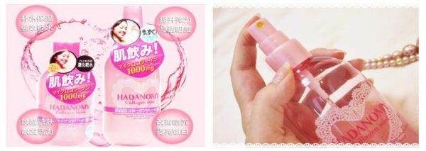 Xịt khoáng collagen hadanomy Nhật Bản 4
