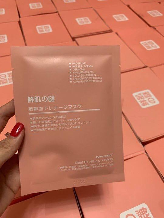 Mặt nạ nhau thai tế bào gốc Rwine Beauty Stem Cell Placenta Mask Nhật Bản 1