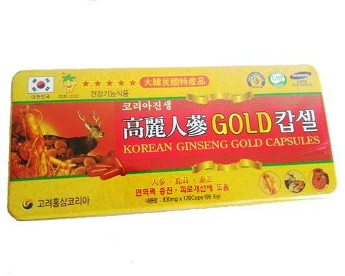 Viên Đạm Hồng Sâm Nhung Hươu Linh Chi Ginseng Gold Capsules | Viên Đạm Hồng Sâm Nhung Hươu Linh Chi Ginseng Gold Capsules