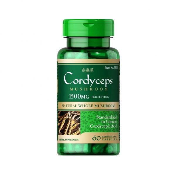 Viên Uống Đông Trùng Hạ Thảo Puritans Pride Cordyceps Mushroom 4 | Viên Uống Đông Trùng Hạ Thảo Puritans Pride Cordyceps Mushroom 4