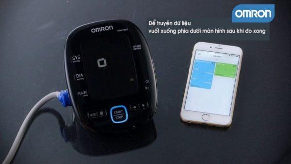 Máy đo huyết áp Omron Hem 7280t kết nối được với thiết bị di động | Máy đo huyết áp Omron Hem 7280t kết nối được với thiết bị di động