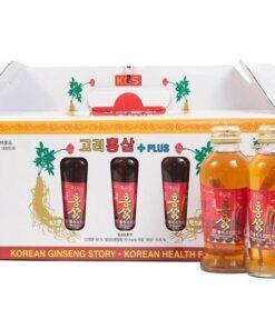 Nước hồng sâm KGS có củ sâm Hàn Quốc 120ml 10 | Nước hồng sâm KGS có củ sâm Hàn Quốc 120ml 10