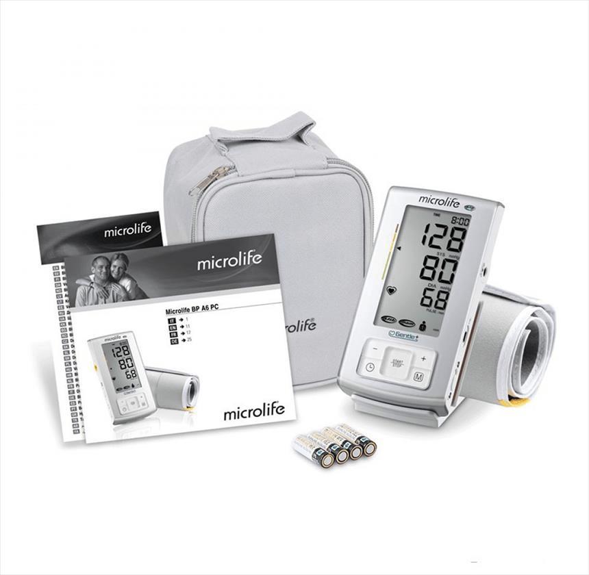 Trọn bộ sản phẩm máy đo huyết áp Microlife BP A6 Basic