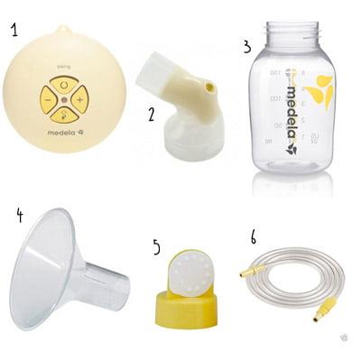 Hướng dẫn lắp ráp đúng cách các phụ kiện của máy hút sữa Medela Swing | Hướng dẫn lắp ráp đúng cách các phụ kiện của máy hút sữa Medela Swing