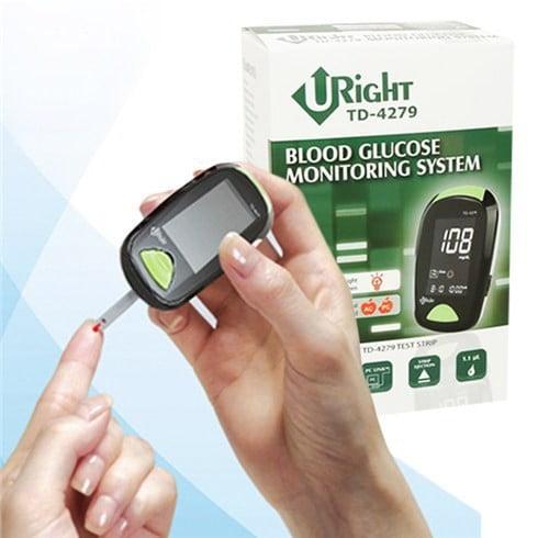 Máy đo đường huyết Uright TD 4279 được thiết kế hiện đại