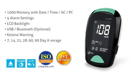Máy đo đường huyết Uright TD 4279 có nhiều tính năng hữu ích | Máy đo đường huyết Uright TD 4279 có nhiều tính năng hữu ích