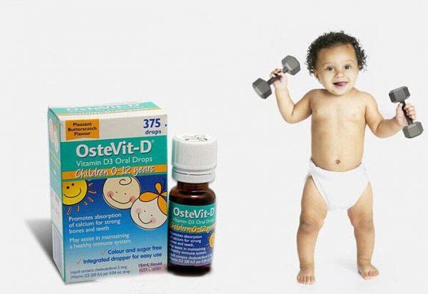 Vitamin D3 cho bé yêu sự phát triển vượt trội