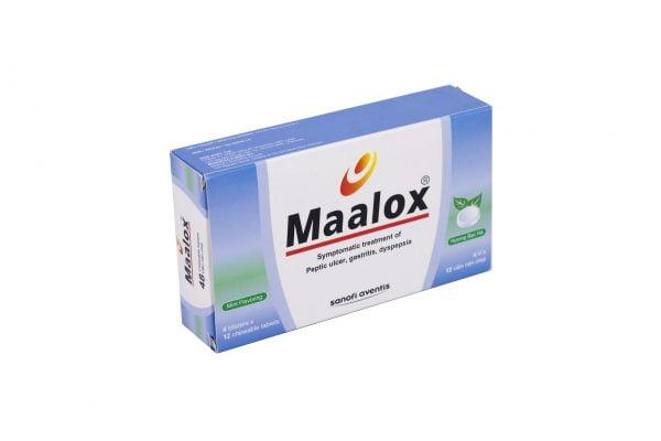 Maalox sản xuất dưới dạng viên nén để điều trị viêm loét dạ dày ợ hơi ợ chua | Maalox sản xuất dưới dạng viên nén để điều trị viêm loét dạ dày ợ hơi ợ chua